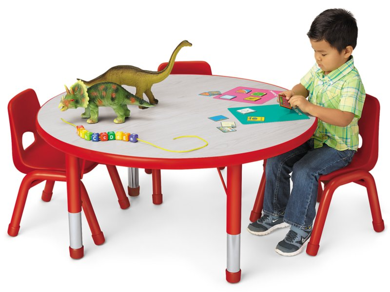 Kids Colors Adjustable Round Table, Kids Round Table