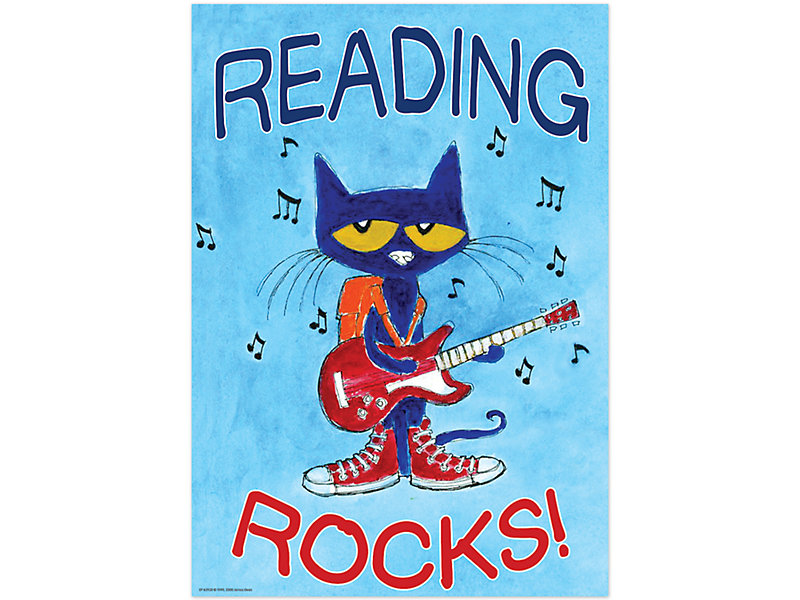 Pete the Cat® Reading Rocks Poster at Lakeshore Learning